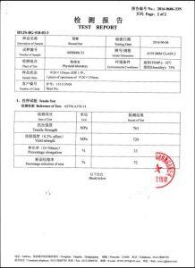Certifikat for A193 B8M CL2