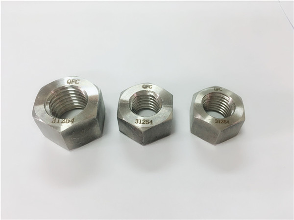 duplex rustfrit stål 2205 / s32205 hex møtrik