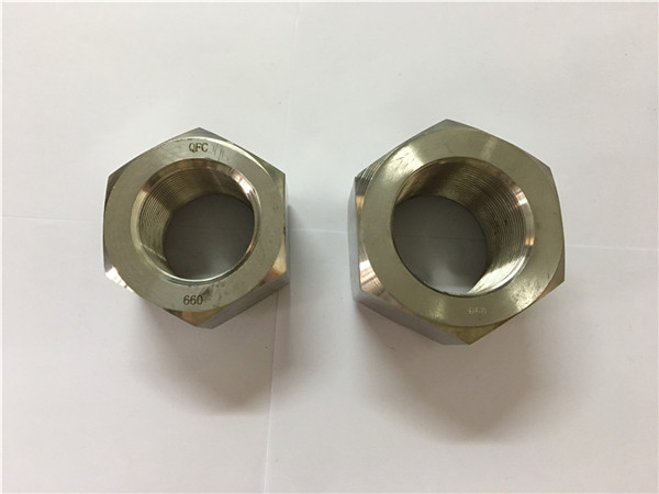 fremstil nikkellegering a453 660 1.4980 hexmøtrikker