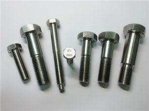 No.25-Incoloy a286 hexbolte 1.4980 a286 fastgørelseselementer gh2132 rustfrit stål hardware maskine skruefiksinger