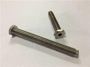 Nr. 64-hul titanium-fastgørelse med gennemgående hul titaniumlegering 6Al4V parabol-unbrakonøgle