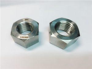 No.76 Duplex 2205 F53 1.4410 S32750 fastgørelsesmidler i rustfri stål, tung hexmøtrik