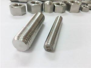 No.81-F55 Zeron100 fastgørelseselementer i rustfrit stål med fuld gevind S32760