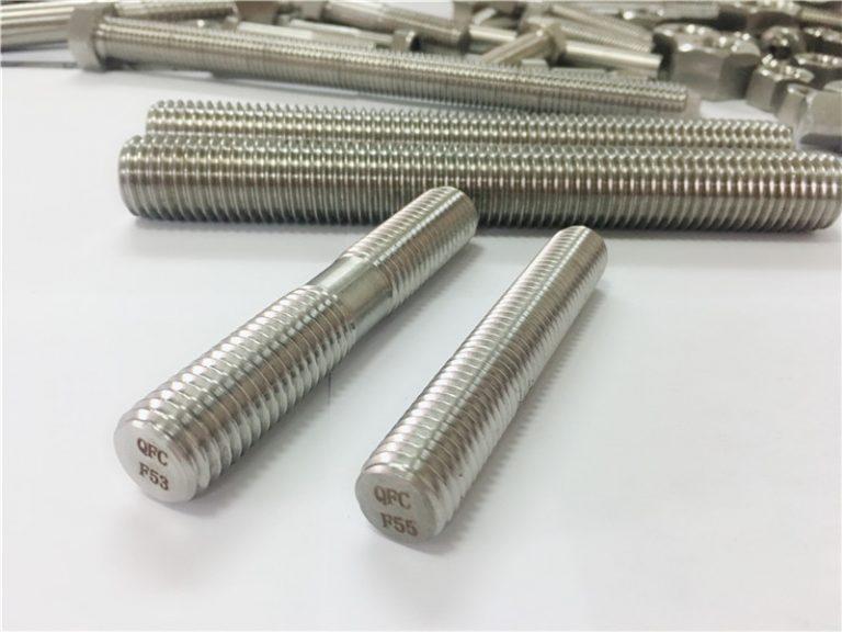 brugerdefinerede auto-bearbejdede rustfrie stålfastgørere dobbelt ende gevindstang